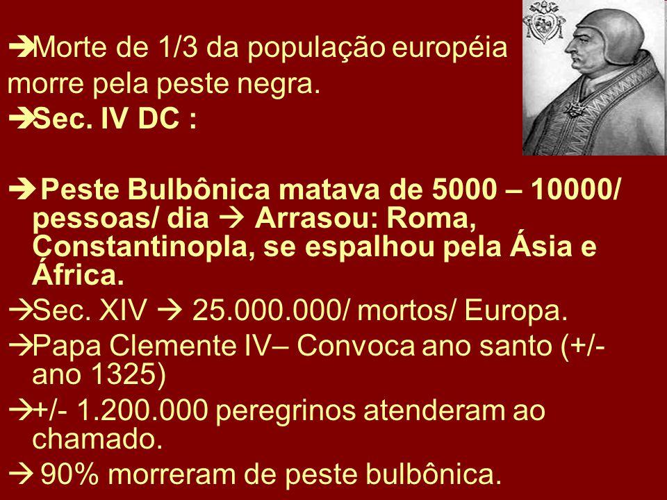 Morte de 1/3 da população européia