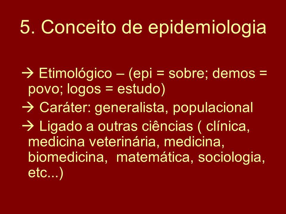 5. Conceito de epidemiologia