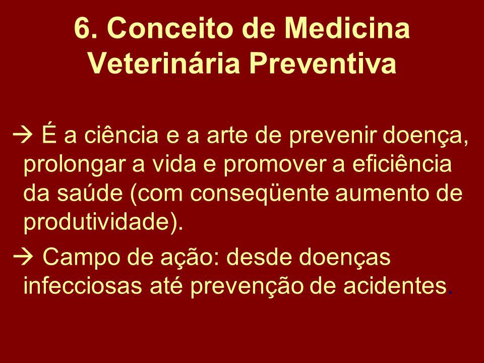 6. Conceito de Medicina Veterinária Preventiva