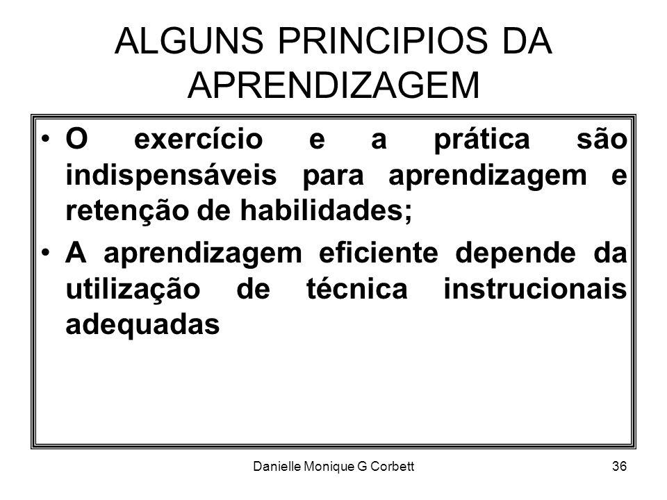 ALGUNS PRINCIPIOS DA APRENDIZAGEM