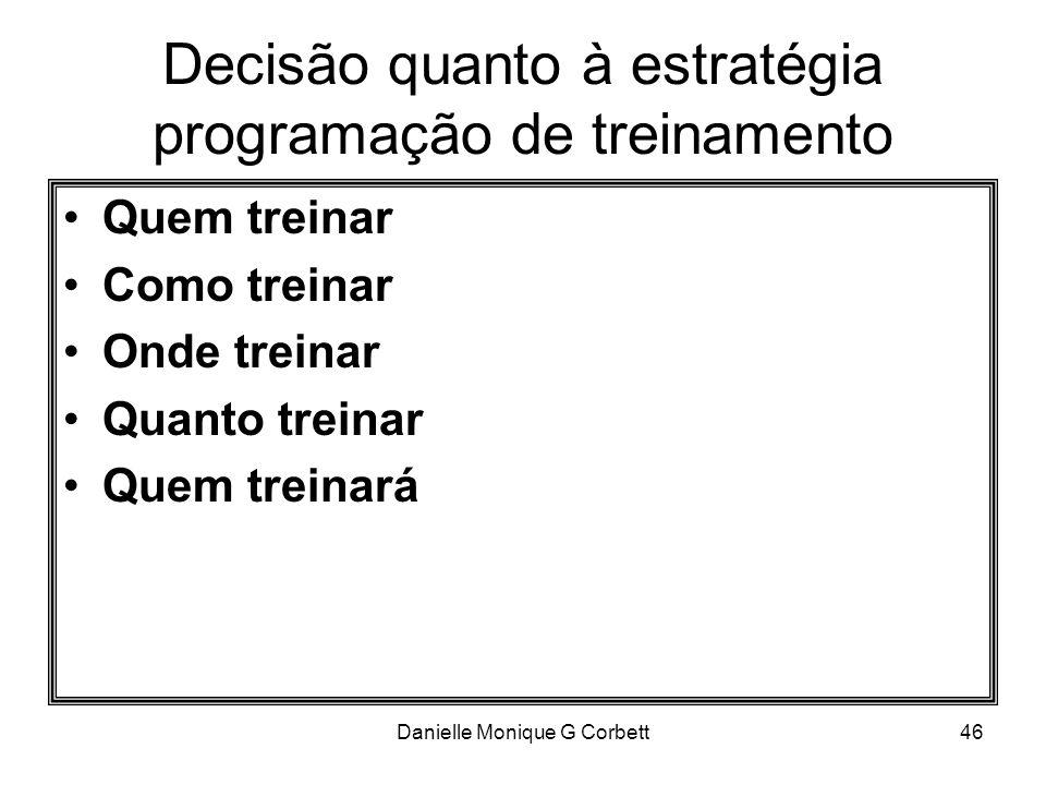 Decisão quanto à estratégia programação de treinamento