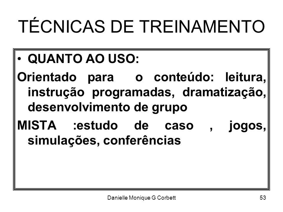 TÉCNICAS DE TREINAMENTO