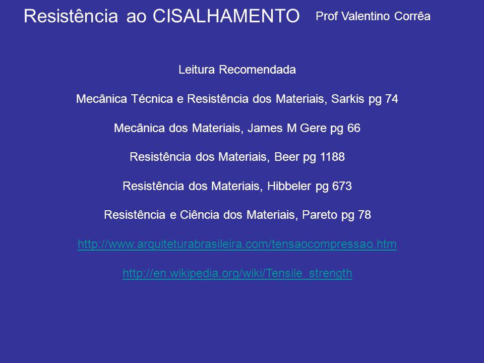 Mecânica Técnica e Resistência dos Materiais, Sarkis pg 74