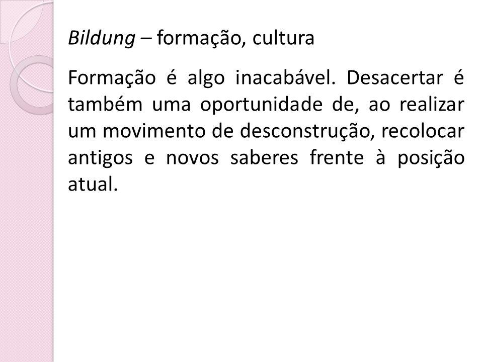 Bildung – formação, cultura