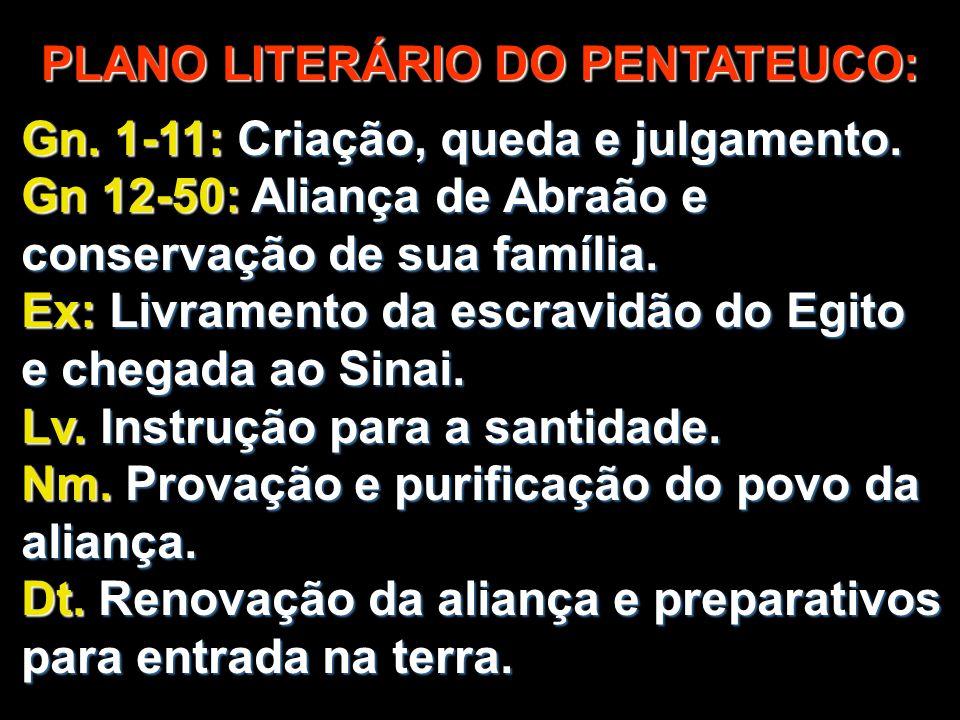 PLANO LITERÁRIO DO PENTATEUCO: