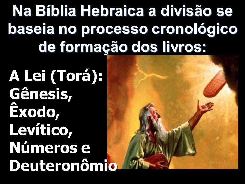 Na Bíblia Hebraica a divisão se baseia no processo cronológico de formação dos livros: