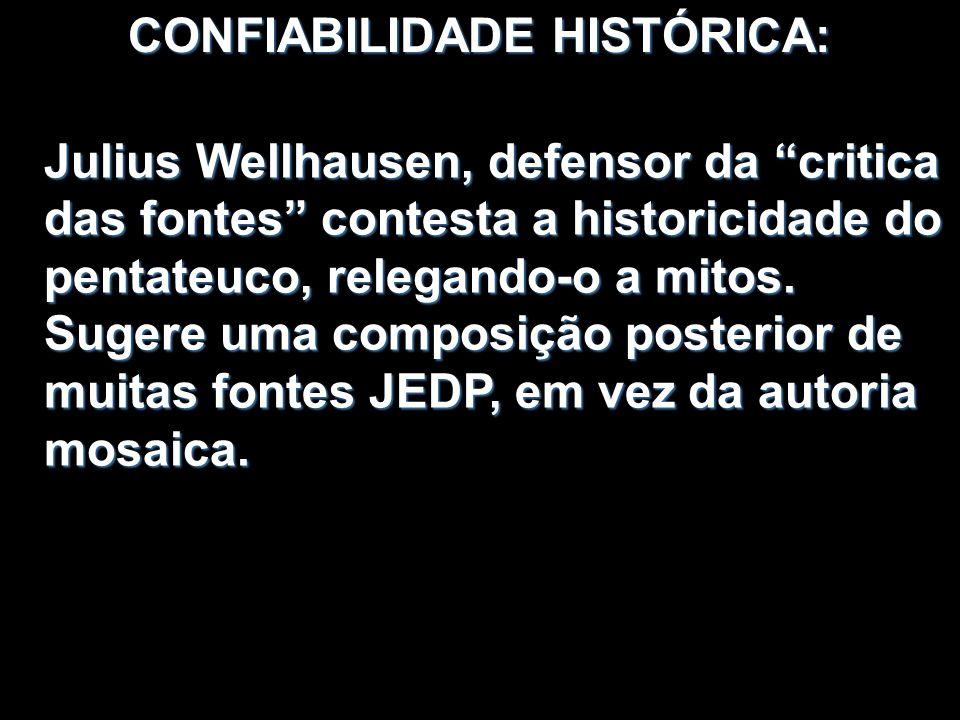 CONFIABILIDADE HISTÓRICA: