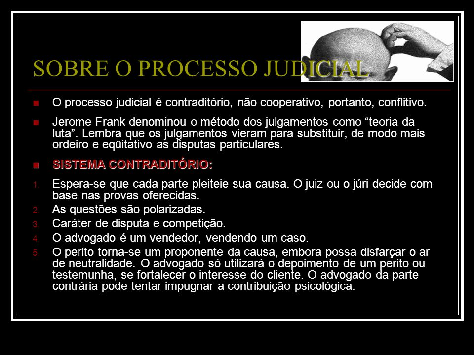SOBRE O PROCESSO JUDICIAL