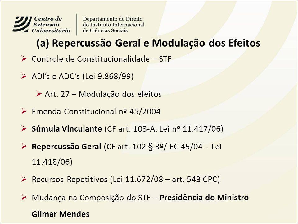 (a) Repercussão Geral e Modulação dos Efeitos