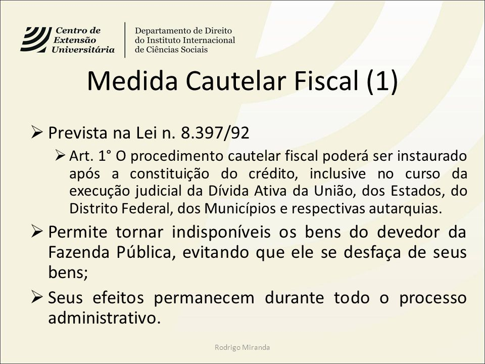 Medida Cautelar Fiscal (1)