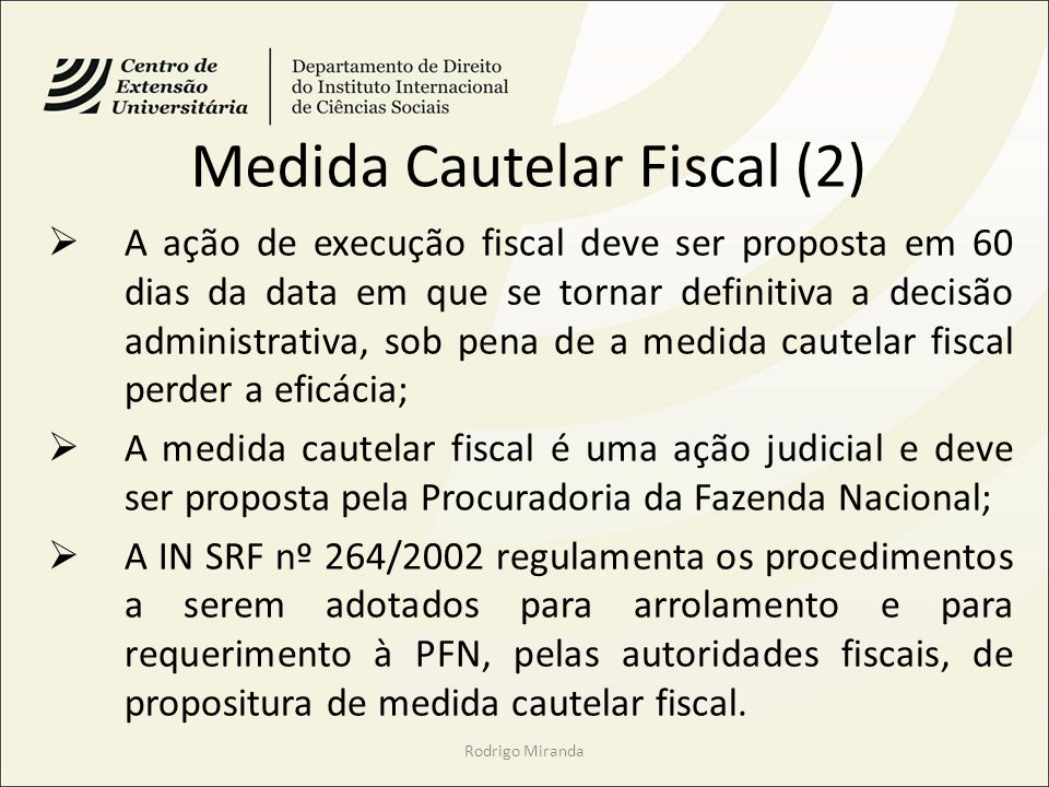 Medida Cautelar Fiscal (2)