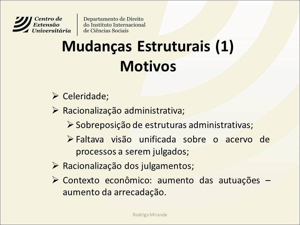 Mudanças Estruturais (1) Motivos