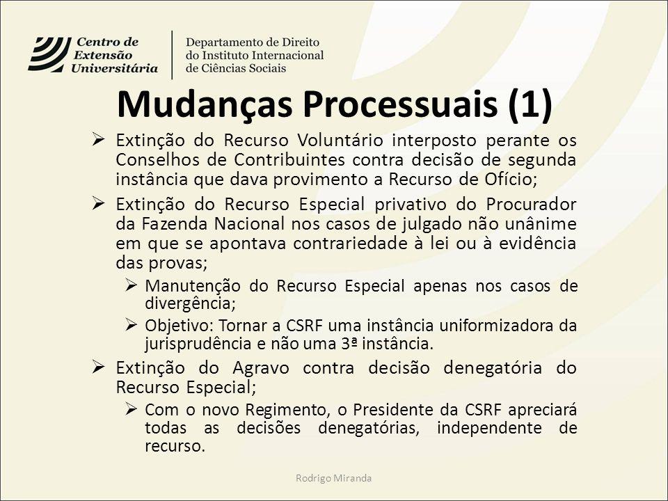 Mudanças Processuais (1)