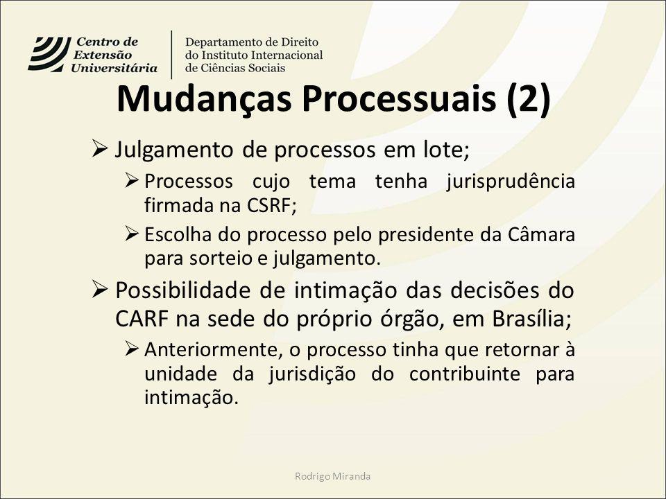 Mudanças Processuais (2)