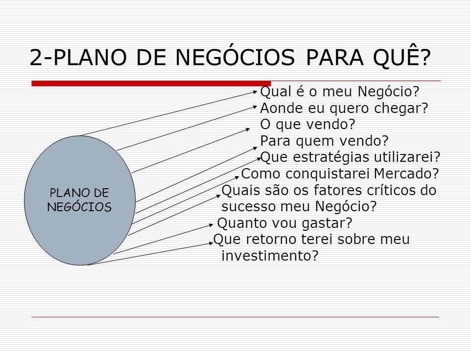 2-PLANO DE NEGÓCIOS PARA QUÊ