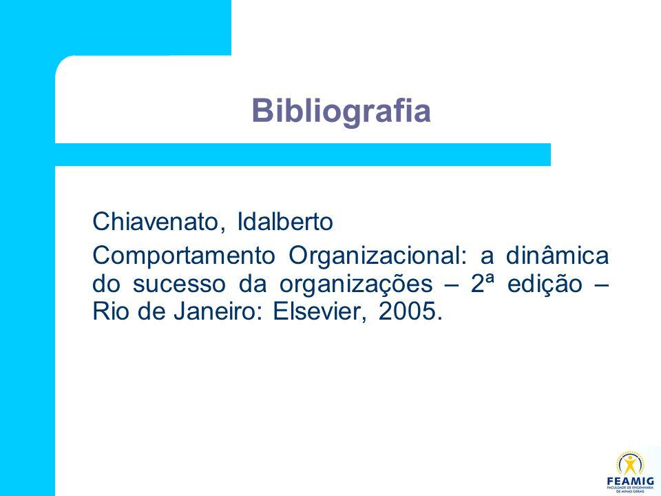 Bibliografia Chiavenato, Idalberto