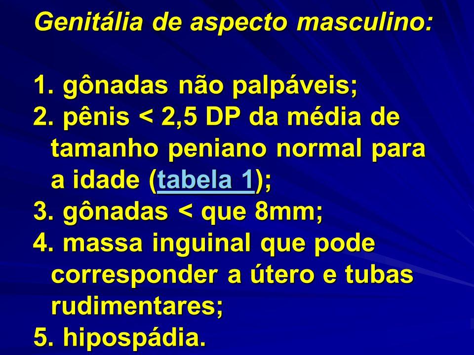 Genitália de aspecto masculino: