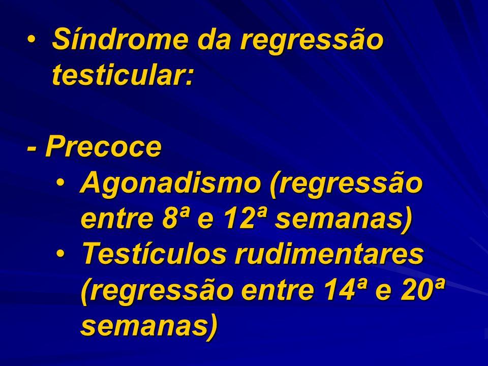 Síndrome da regressão testicular: