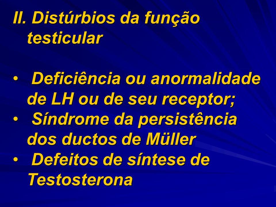 II. Distúrbios da função testicular