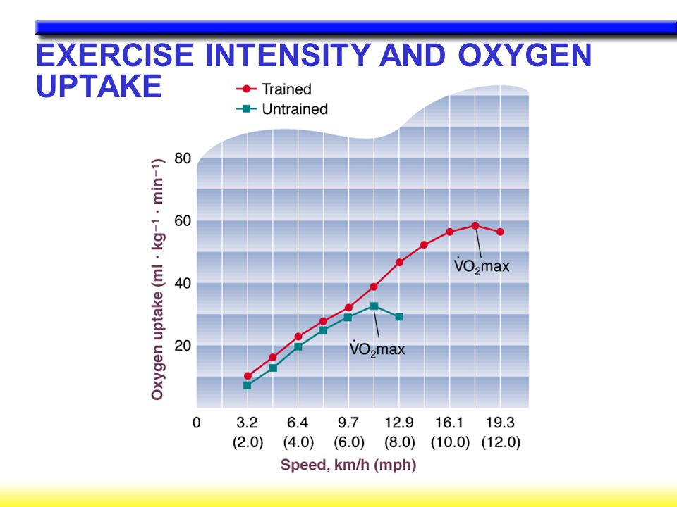 EXERCISE INTENSITY AND OXYGEN UPTAKE