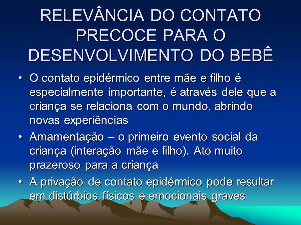 RELEVÂNCIA DO CONTATO PRECOCE PARA O DESENVOLVIMENTO DO BEBÊ