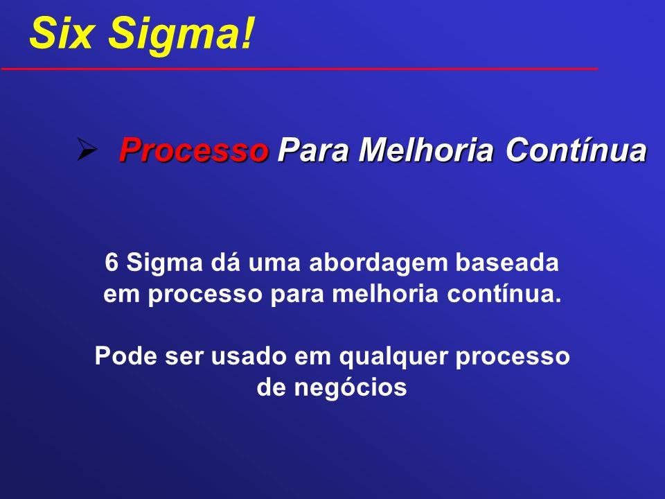 Six Sigma! Processo Para Melhoria Contínua