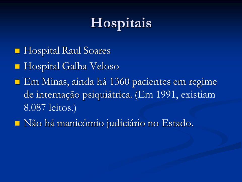 Hospitais Hospital Raul Soares Hospital Galba Veloso
