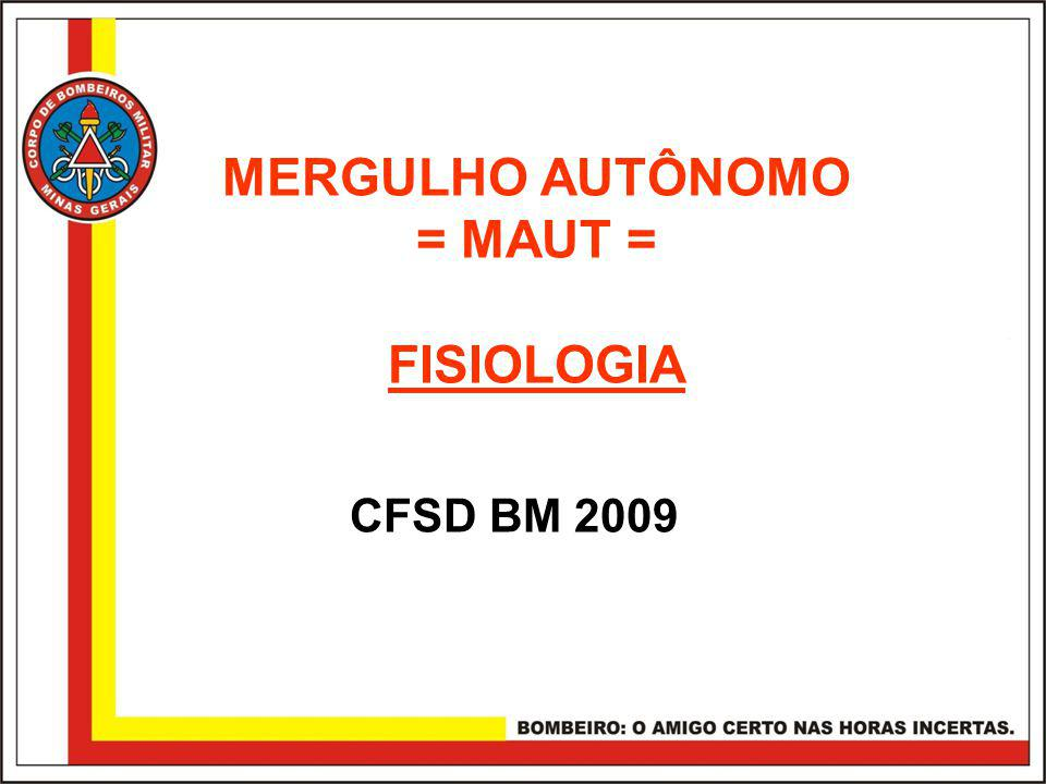 MERGULHO AUTÔNOMO = MAUT =