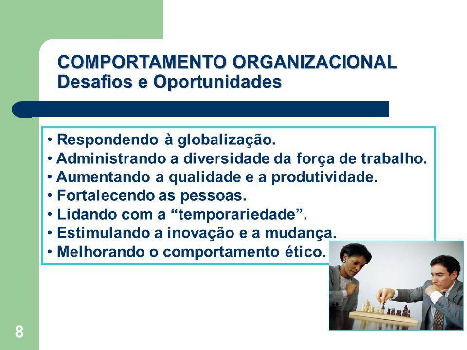 COMPORTAMENTO ORGANIZACIONAL Desafios e Oportunidades