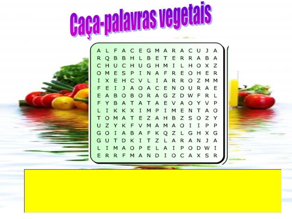 Caça-palavras vegetais