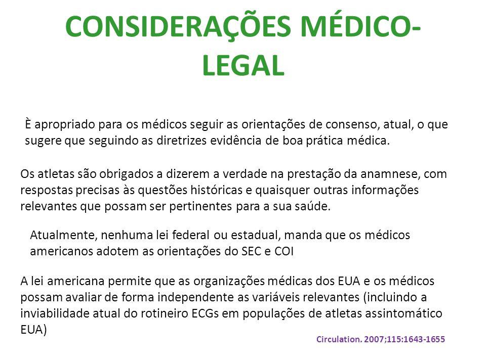 CONSIDERAÇÕES MÉDICO-LEGAL