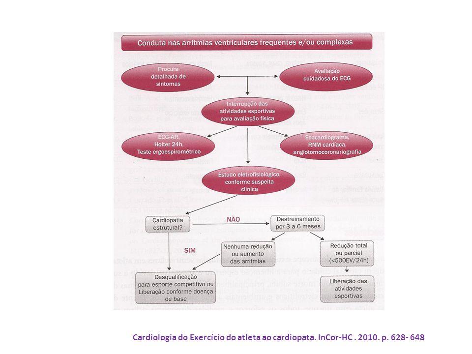 Cardiologia do Exercício do atleta ao cardiopata. InCor-HC. 2010. p