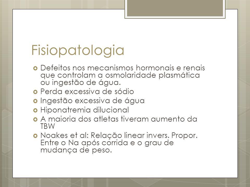 Fisiopatologia Defeitos nos mecanismos hormonais e renais que controlam a osmolaridade plasmática ou ingestão de água.