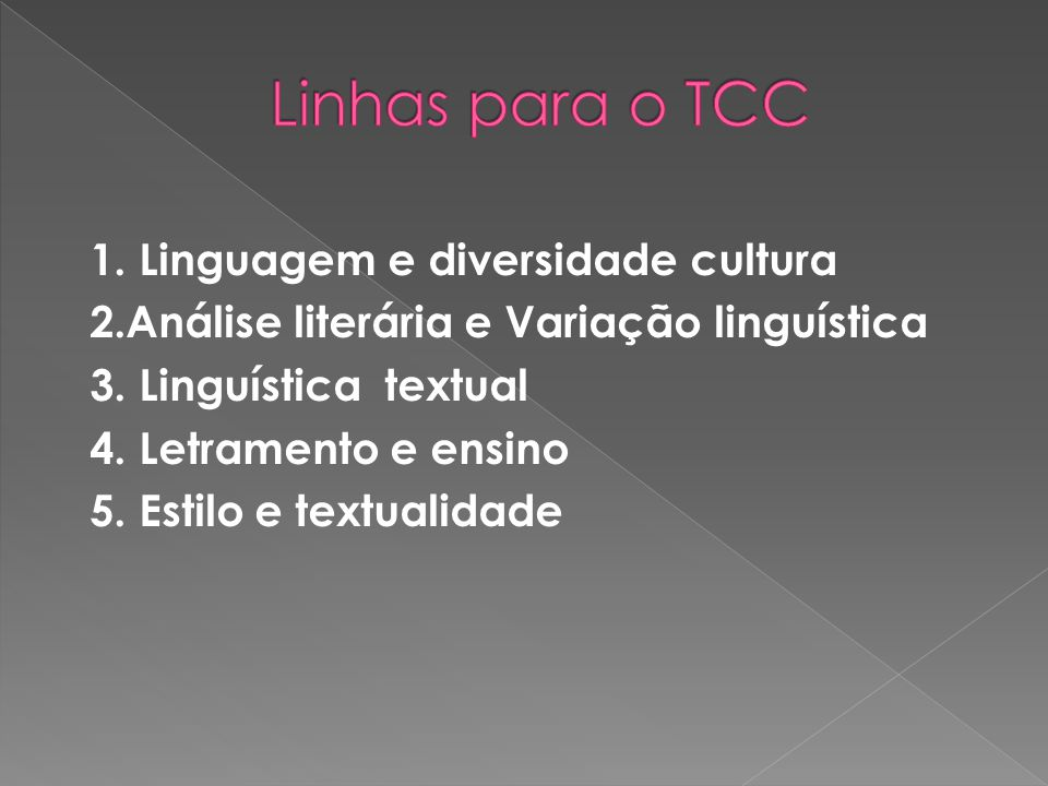 Linhas para o TCC