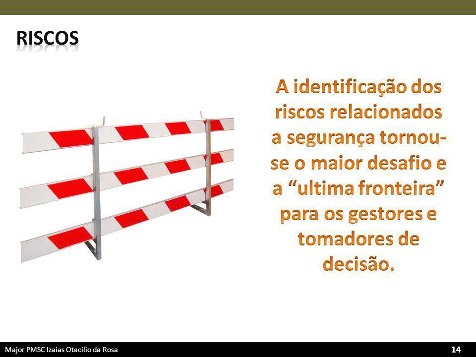 riscos A identificação dos riscos relacionados a segurança tornou-se o maior desafio e a ultima fronteira para os gestores e tomadores de decisão.