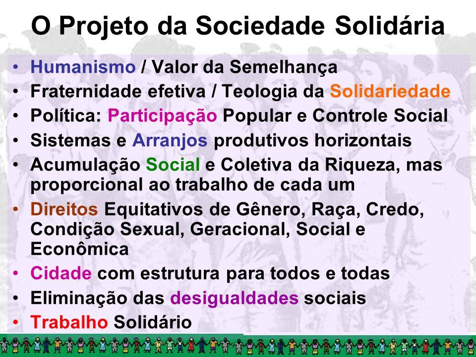 O Projeto da Sociedade Solidária