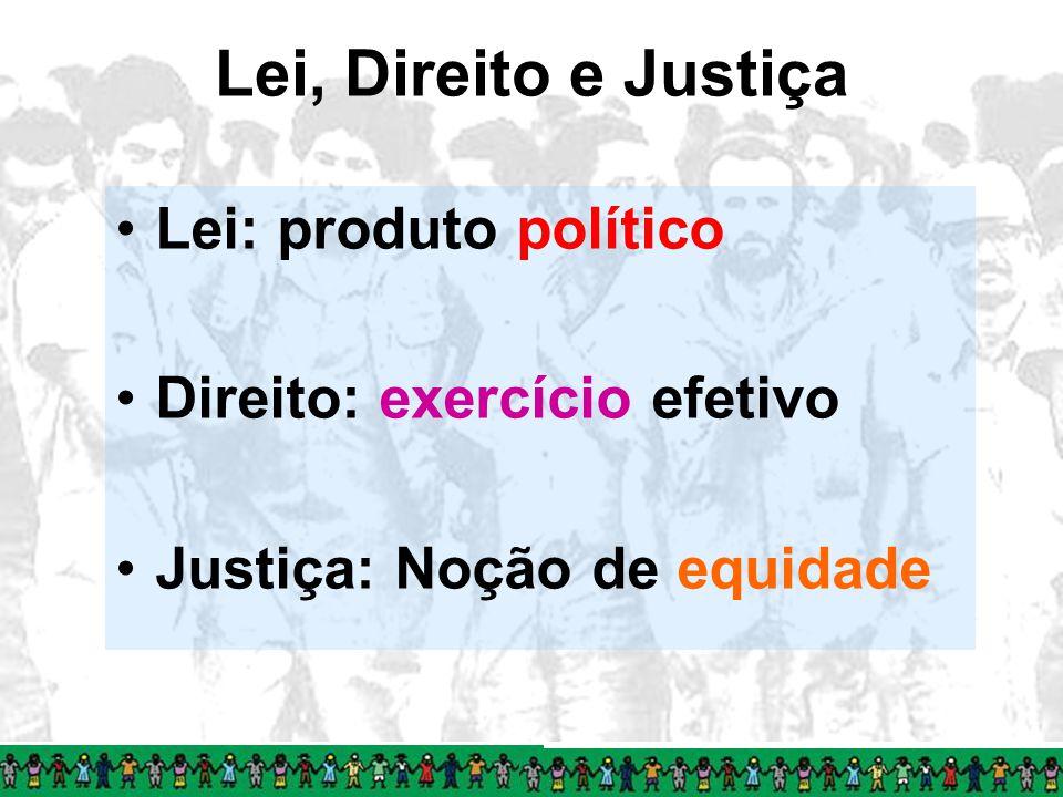 Lei, Direito e Justiça Lei: produto político