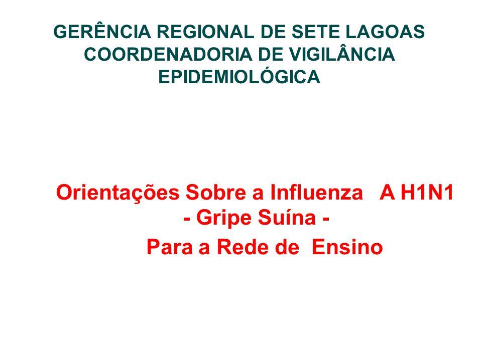 Orientações Sobre a Influenza A H1N1 - Gripe Suína -