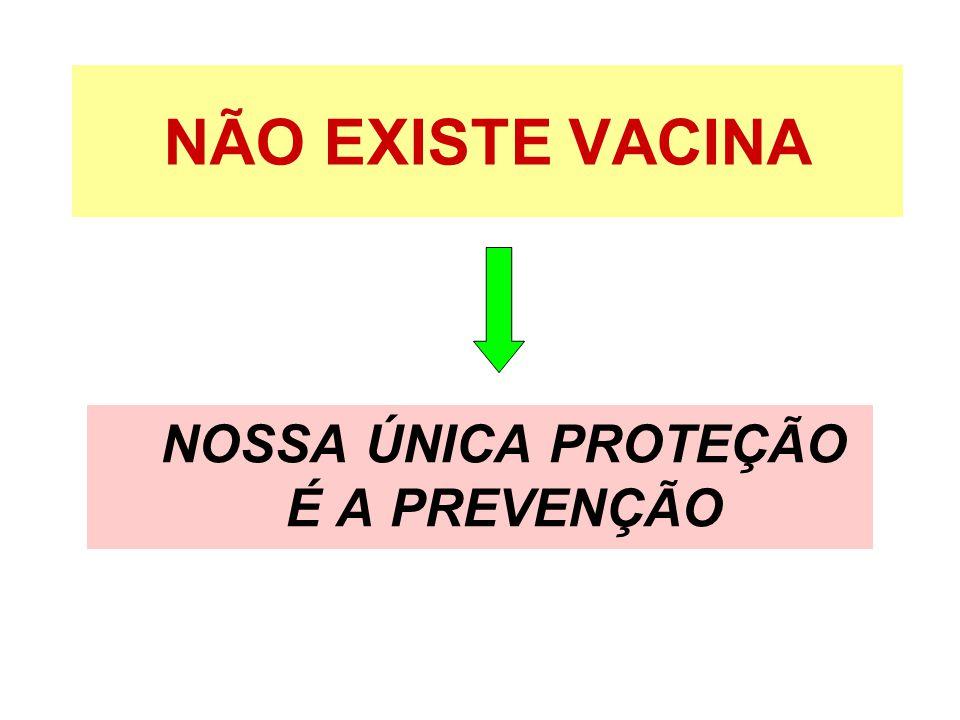 NOSSA ÚNICA PROTEÇÃO É A PREVENÇÃO
