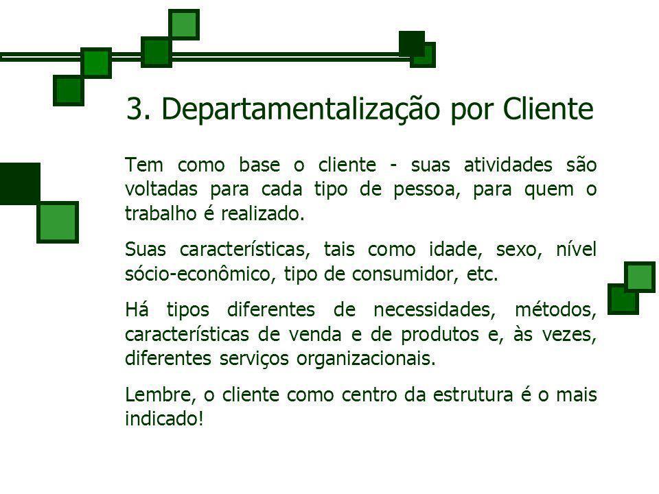 3. Departamentalização por Cliente