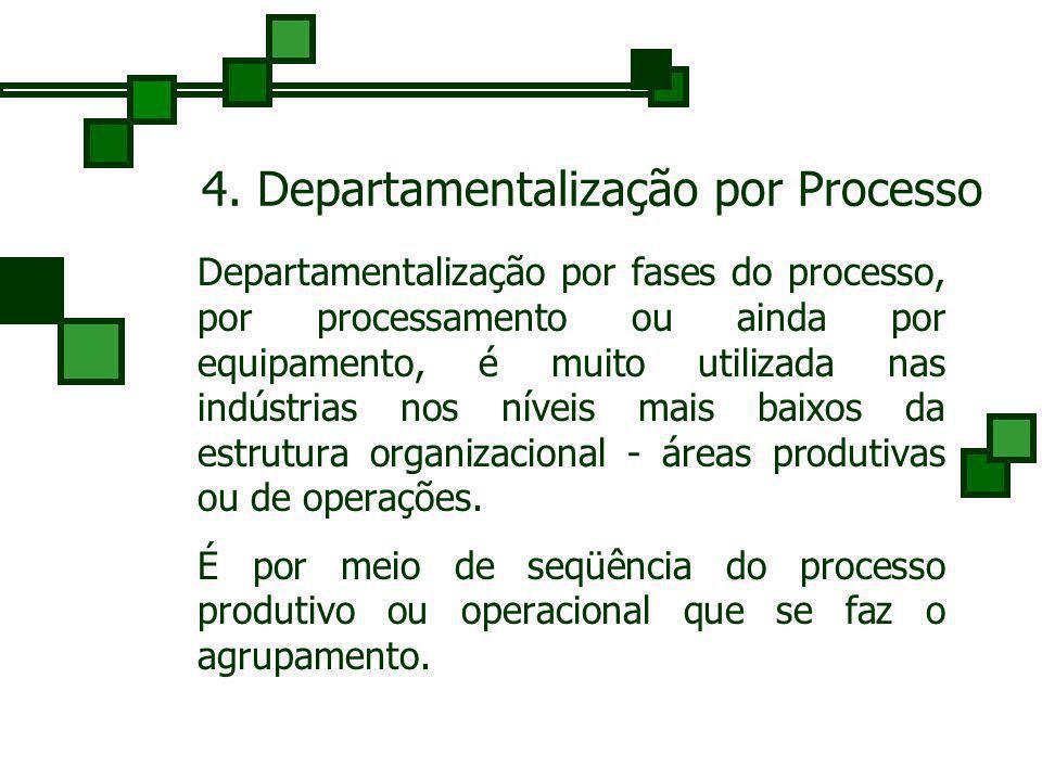 4. Departamentalização por Processo