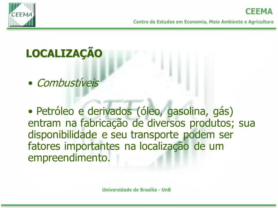 LOCALIZAÇÃO Combustíveis.