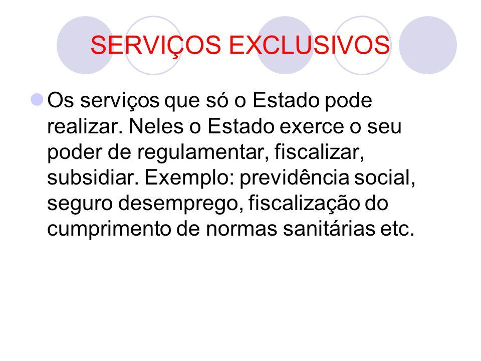 SERVIÇOS EXCLUSIVOS