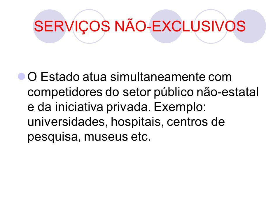 SERVIÇOS NÃO-EXCLUSIVOS