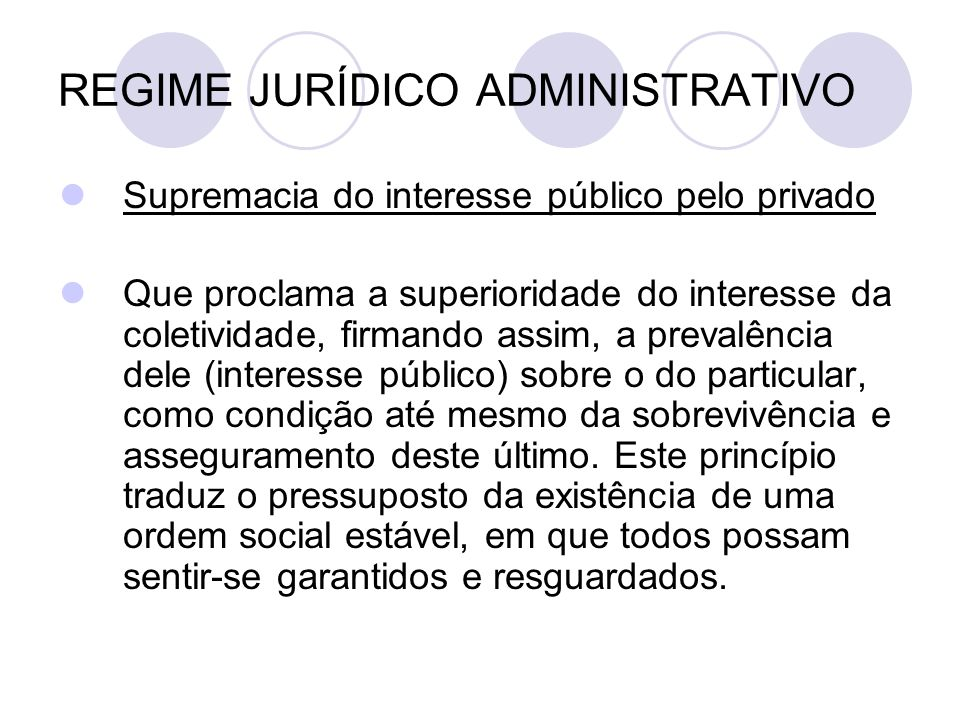 REGIME JURÍDICO ADMINISTRATIVO