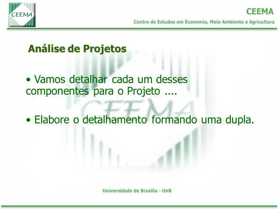 Vamos detalhar cada um desses componentes para o Projeto ....
