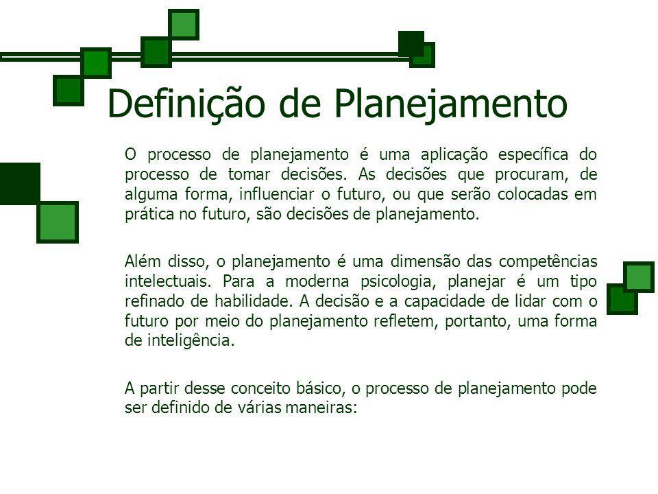 Definição de Planejamento