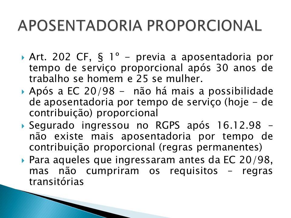 APOSENTADORIA PROPORCIONAL
