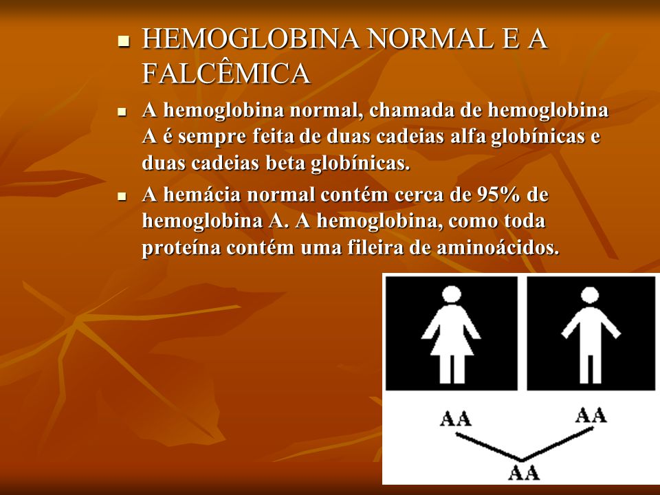 HEMOGLOBINA NORMAL E A FALCÊMICA