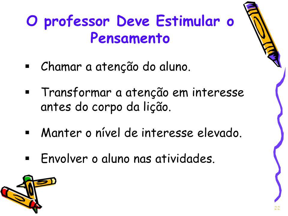O professor Deve Estimular o Pensamento